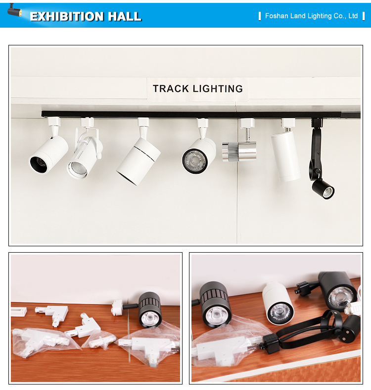 round led track light