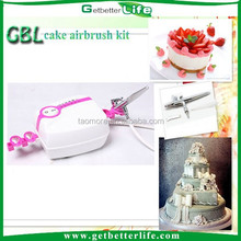 Getbetterlife CE Mini Cake Decoration Machine 5 Speed 21PSI Pink <strong>Airbrush</strong> for Cakes