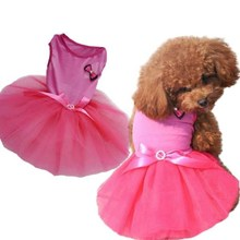 Fashion Dress Apparal for Dog Princess Dog Clothes Dress Pink Fancy Dog Dress