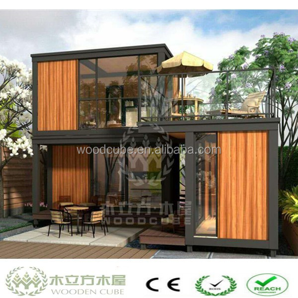 WPC two-storey wooden house