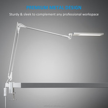 Modern Office Business Adjustable Clamp desk lamp led Flexible Arm Magnifying Metal Table Lamp,Clip Light,Led Sensor Light