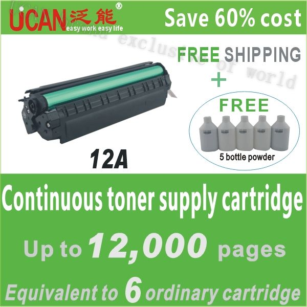 exclusive-- 12A printer toner cartridge for Canon IC MF 4012G,12000pages for each model,empty toner bottles