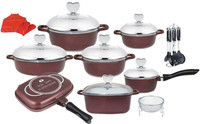 25pcs happy baron cookware set