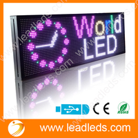 ANIMATION /TEXT/TIME/TEMPERATURE DISPLAY ESAY PROGRAMMABLE FULL COLOR P10 RGB LED DISPLAY
