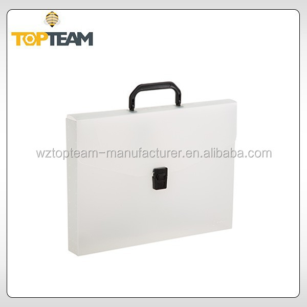 Factory price metal clip file folder,a4 document folder,a4 clear pp plastic box file with handle