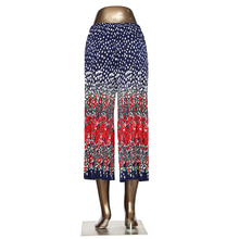 Comfy Pleated Wild Flowers Wide Leg Pants Loose Pants Ladies Floral Flare Pants