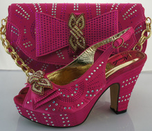 AB6189#4 African high heel wax shoes/wax print shoes matching bags/wax print shoes for laides party