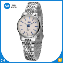Women Wristwatches MIKE Luxury Brand Stainless Steel Strap Analog Date Men's Quartz Watch Casual Watch relogio masculino MW004