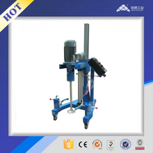 Pneumatic lift dispersion mixer for glass cement production