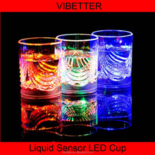 CUP-021 100-200ML LED wine Glass 8oz with lights for Christmas /Bar/Party liquid/200ml wine active led cup ,light up wine glass/