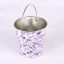 reusable pen container, barbecue tool, promotional gift tin bucket with handle