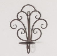 Wrought Iron Wall Pillar Candle Holder