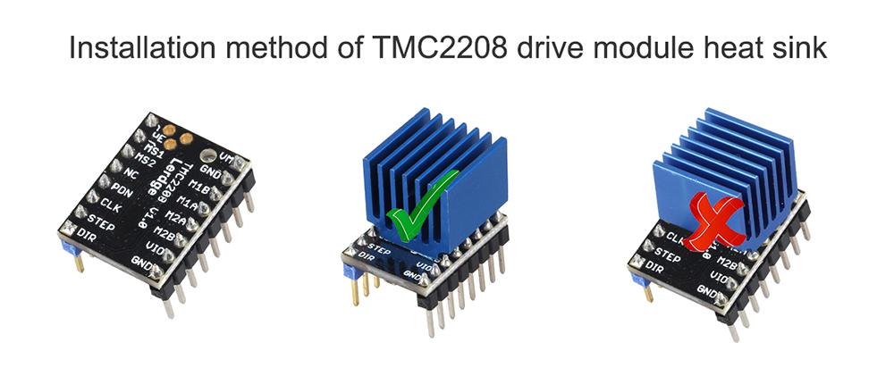 TMC2208 Stepper Motor Driver TMC2100 MKS replace for 3D Printer w//Heatsink