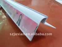 supermarket PVC ticket holder, Label Holder, plastic custom price tags