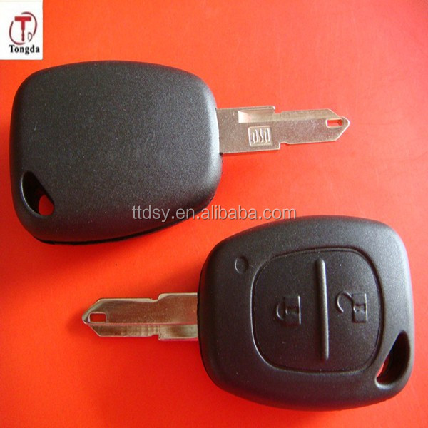 Tongda ,high quality and competitive for renault old style. 2 button remote key shell/key blank, for Renault Traffice key