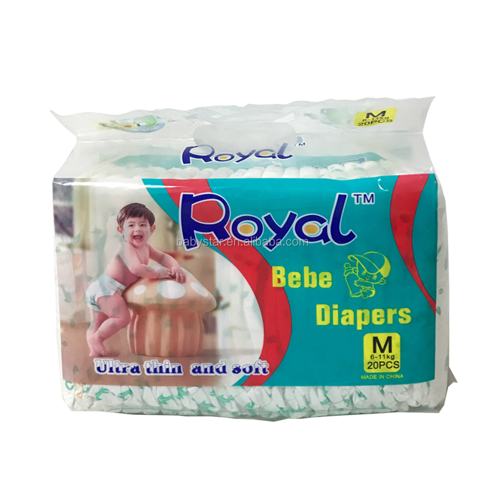 Private Label Super Absorbent Organic Disposable Wholesale Cheap Ultra Thick baby cloth Diaper