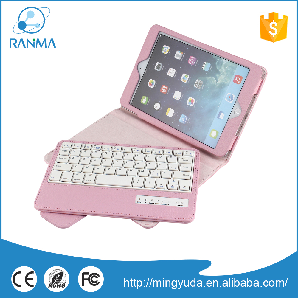Trade Assurance tablet pc detachable bluetooth wireless keyboard case for ipad mini 2