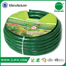 [GREENLAND]Top quality PVC Green Flexible Knitted Hose Braided Hose/PVC Transparent Soft garden hose with Brass fitting