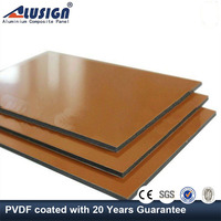 Alusign most popular aluminum composite facade panel for building of high gloss covering