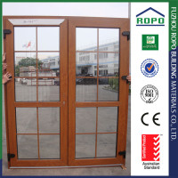 Made in China PVC wood color exterior main gate design villa entrance door