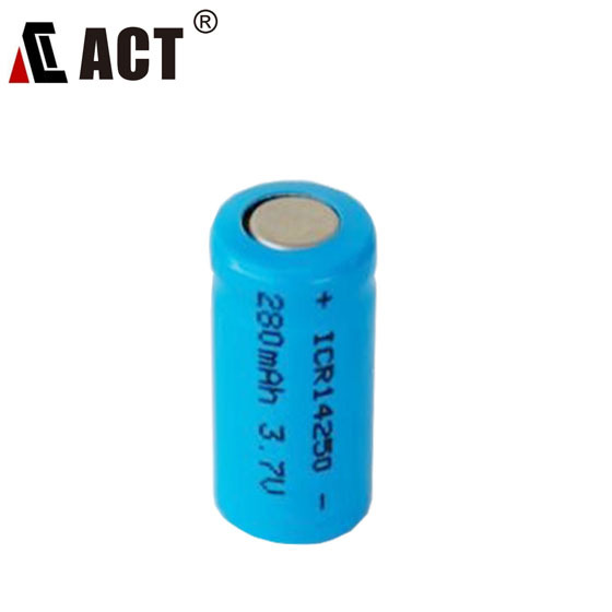 Rechargeable battery 3.7v 1/2aa Li-mon2 battery/ICR14250 300mAh