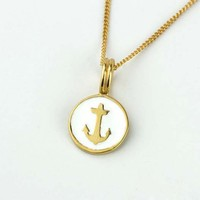 Hot new product for 2015 fashion gold anchor charm alloy anchor charms wholesale