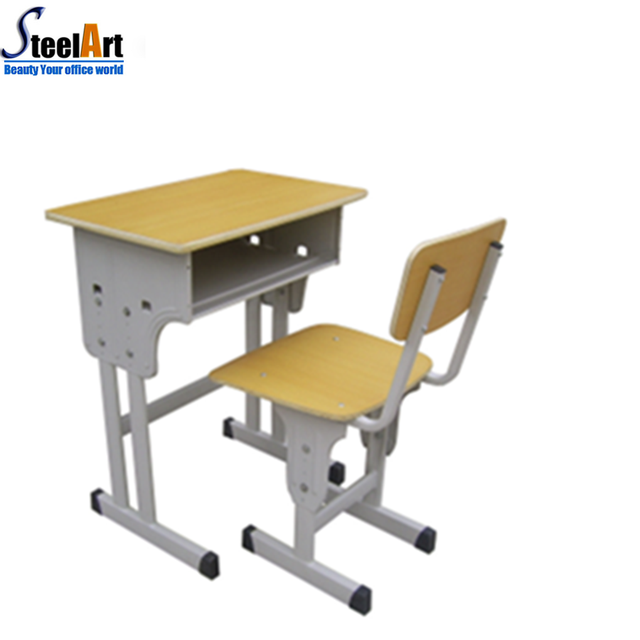 Standard size of school desk chair hot sale school desk cheap price