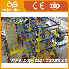 Children climbing rope course commercial indoor playground equipment
