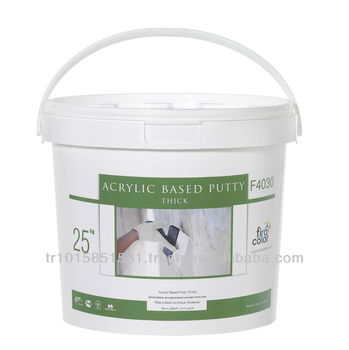 Acrylic Putty Thick surface smoothing putty used for background preparation of water based paints in exterior walls.