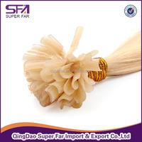 Wholesale Italy glue Brazillian hair U tip prebonded hair extensions