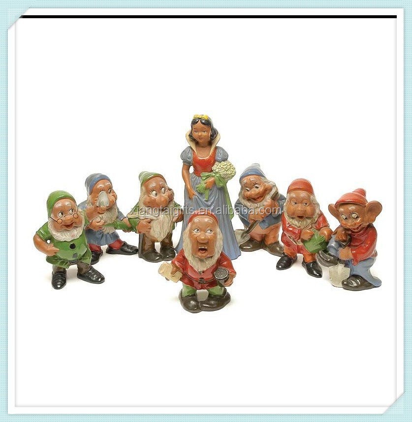 Resin Snow White and Seven Dwarfs Garden Statue