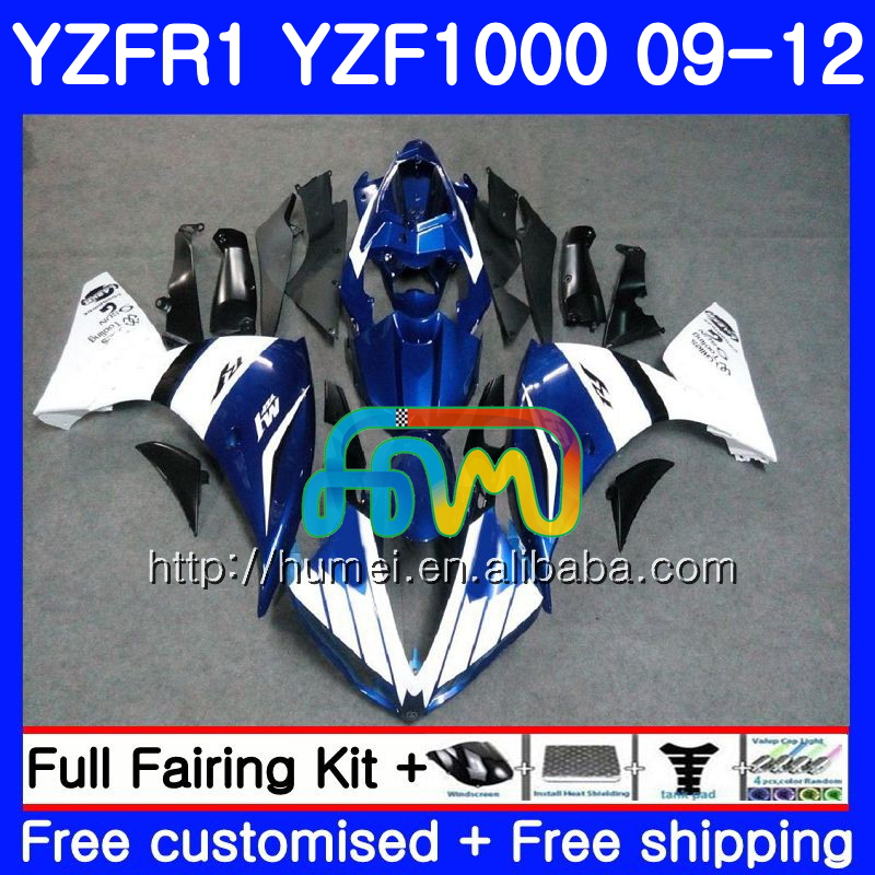 Body For YAMAHA YZF-<strong>R1</strong> YZF1000 R 1 YZF-1000 blue white 104HM26 YZF 1000 YZF <strong>R1</strong> <strong>09</strong> 10 11 12 YZFR1 2009 2010 2011 2012 Fairing