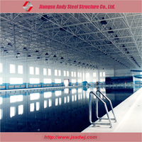 Prefabricated building of metal frame truss