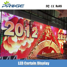 China factory low price light weight P6.25 outdoor full color curved/arc/flexible led mesh curtain
