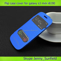 Cell phone accessories Phone case super slim auto sleep wake flip case cover for samsung galaxy s3 mini i8190