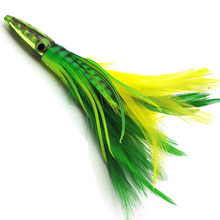 New design 18cm octopus soft Resin jig fishing skirt feather bait lure
