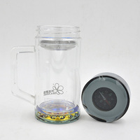 made in China unbreakable recycled glass water bottle for camping