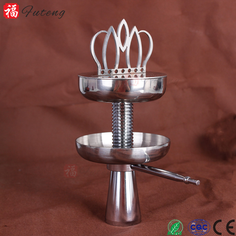 Fu Teng FT-02093 Wholesale New Style Hookah Accessory With Imperial Crown Stainless Steel Hookah Shisha Charcoal Holder