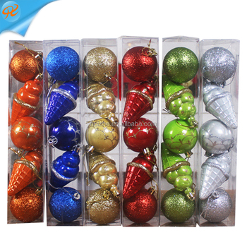 2017 New product promotional fancy color christmas ornament ball