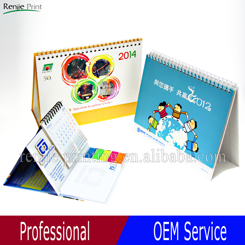 2017 new design desk calendar in different shape/customized design desktop calendar