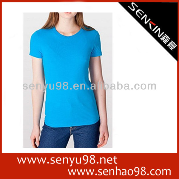 2013 high quality promotional woman t-shirt OEM clothing supplier