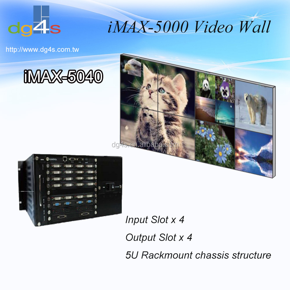 iMAX-5040 16 x 16 / 16 x 8 Seamless Switch Matrix Video Wall Controller