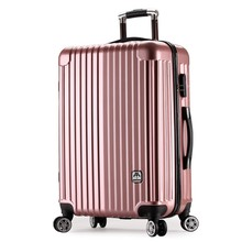 Aluminium frame pure PC cheap on line plane wheeled cabin luggage