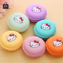 primerry small candy colors cute girl circular Tin plate coins/keys bag wallet