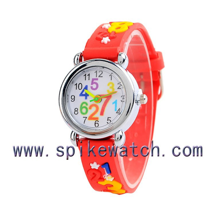 Girls fashion red color manufacturer direct selling promotional silicon wristwatches