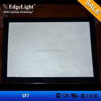 Edgelight CF7 single sided menu board , magnetic advertising light boxes for restaurants , cheap led crystal light box