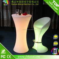 2016 LED Furniture LED Bar Table Rechargeable LED Table