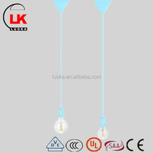 blue modern chandelier & pendant lamp withsilicone hanging and e27