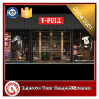 Hongkong popular brand vintage style men's jeans shop interior design