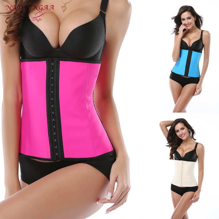 Women Hot Body Shaper Slimming Three Breasted Waist Tummy Belt Waist Cincher Underbust Control Corset Waist Trainer
